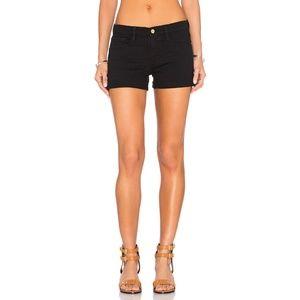 FRAME Denim Le Cut Off Jean Shorts Black NWOT